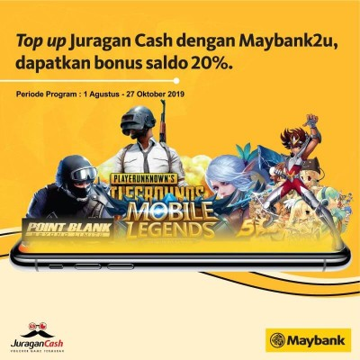 Blog Maybank2U : Top up Juragan Cash Dapat Bonus Saldo ! Juragan Cash