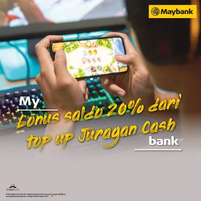Blog Maybank2u : Top up Juragan Cash Dapat Bonus Saldo 20% Juragan Cash